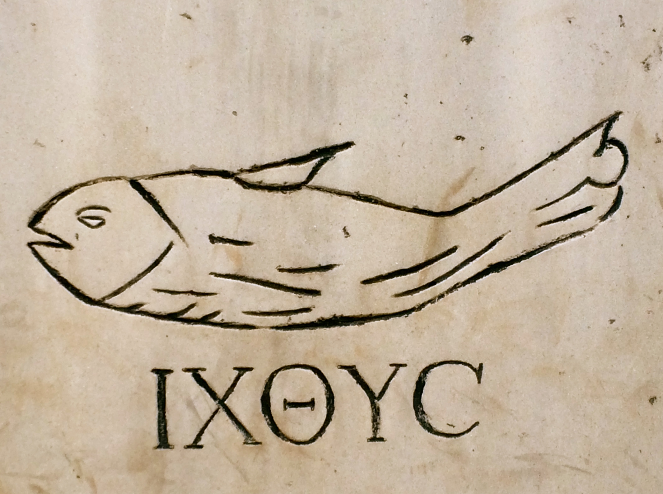 Ancient fish symbol image collections symbols and meanings early christian symbol of a fish greek for fish is an acrostic for a vida dos buycottarizona Gallery