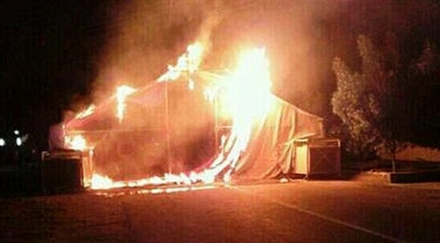 igreja queimando